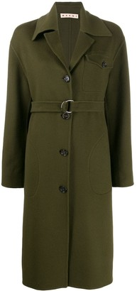 Marni belted single breasted coat