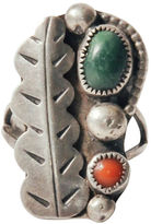 One Kings Lane Vintage Sterling Silver Leaf Ring