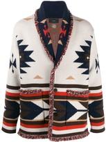 Alanui long sleeve Aztec pattern cardigan