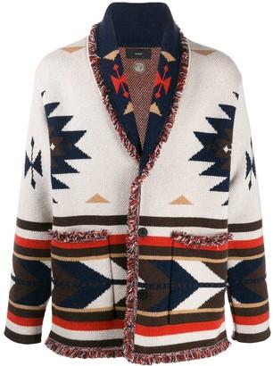 Alanui oversized Aztec pattern cardigan
