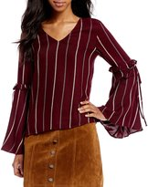 Gianni Bini Laura Tie Bell Sleeve Blouse