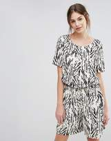 Selected Printed Maxi Romper