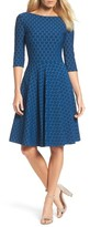 Leota Women's Circle Knit Fit & Flare Dress
