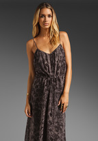 LAmade Snake Print Chiffon Maxi Cami Dress