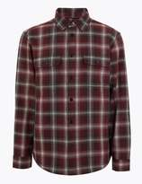 M&S CollectionMarks and Spencer Pure Cotton Checked Overshirt