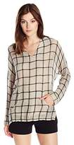 Stateside Women's Plaid Top