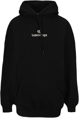 Balenciaga Sponsor Logo Embroidered Hoodie