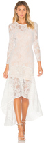 Aijek Galella Lace Asymmetric Maxi Dress