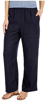 Eileen Fisher Ankle Length Straight Leg Pants (Black) Women's Casual Pants
