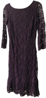 Calvin Klein Burgundy Lace Dress for Women
