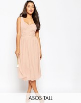 ASOS Tall ASOS TALL WEDDING Ruched Panel Midi Dress