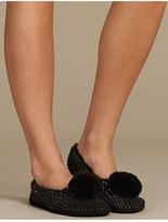 M&S Collection Pom Pom Ballet Slipper Socks