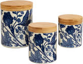 Certified International Blue Indigo 3Pc Canister Set