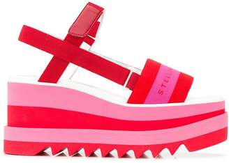 Stella McCartney wedge logo sandals