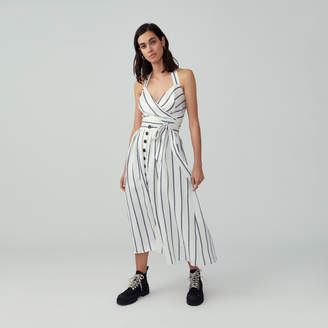 Fame & Partners Button Front Full Skirt