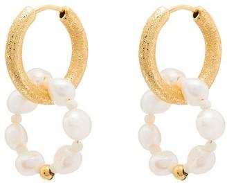 Anni Lu Ring of pearls hoop earrings