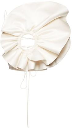 Magda Butrym Flower Wool & Silk Cady Layered Top