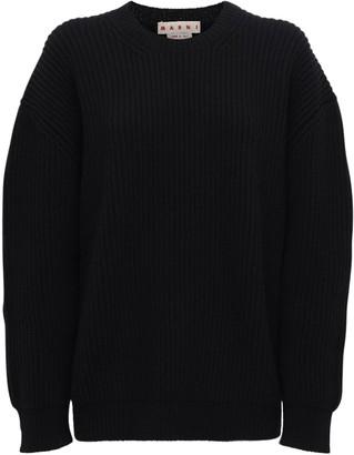 Marni Oversize Wool Knit Crewneck Sweater