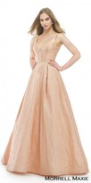 Morrell Maxie Sweetheart Jacquard Pleated A-line Ball Gown