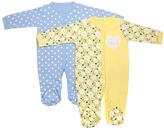 Cutie Pie Baby Yellow & Blue Footie Set - Infant
