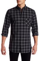 Zanerobe Collared Long Sleeve Plaid Woven Shirt