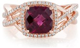 Effy Jewelry Effy Bordeaux 14K Rose Gold Rhodolite Garnet and Diamond Ring, 3.31 TCW