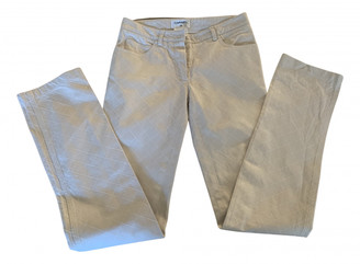 Chanel Ecru Cotton Jeans