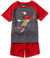Under Armour Baby Boys 12-24 Months Peanut Outfielder Raglan Short-Sleeve Tee & Solid Shorts Set