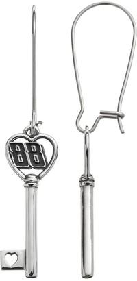 "Insignia Collection NASCAR Dale Earnhardt Jr. ""88"" Stainless Steel Key Drop Earrings"
