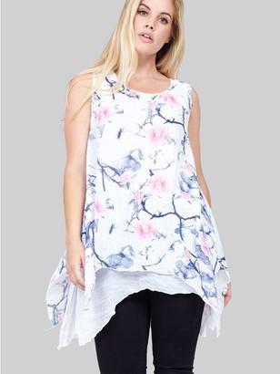 M&Co Izabel floral longline tunic top