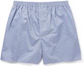 Zimmerli Striped Mercerised Cotton Boxer Shorts