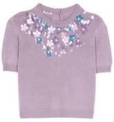Miu Miu Exclusive to mytheresa.com – embellished virgin wool sweater