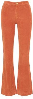 Stiletto Boot Corduroy High Rise Boot Cut Pant