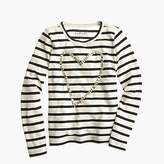 J.Crew Girls' heart gem T-shirt in stripe