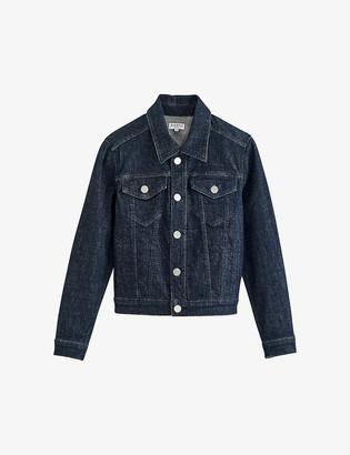 Claudie Pierlot Vanda contrast-trim denim jacket