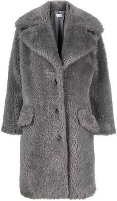 RED Valentino Single-Breasted Button-Fastening Coat