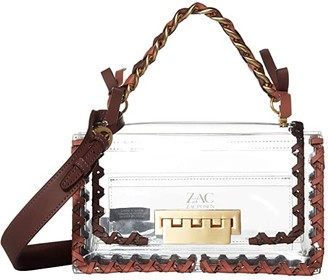 ZAC Zac Posen Earthette Chain Top-Handle Shoulder - Solid Lacing (Clear) Handbags