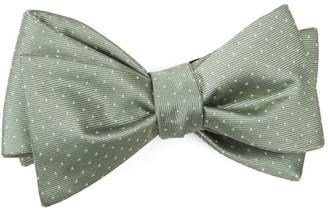 Tie Bar Mini Dots Sage Green Bow Tie