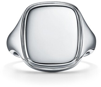 Tiffany & Co. Square signet ring in sterling silver, 18 mm wide