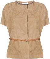 Fabiana Filippi short-sleeved belted jacket