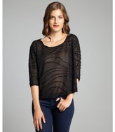 BCBGeneration black jersey knit contoured seam open side top