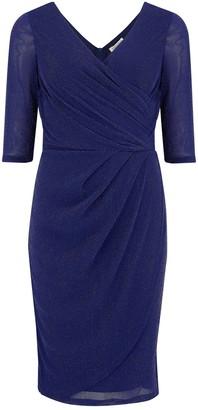 Sugarhill Brighton Millie Indigo Sparkle Wrap Dress