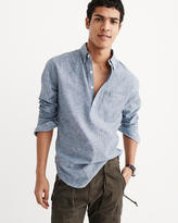 Abercrombie & Fitch Chambray Popover Shirt