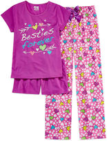 Asstd National Brand Sleep On It 3-pc. Besties Pajama Set - Girls 4-16