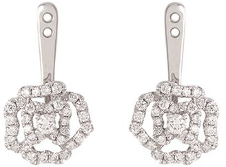 Lc Collection Jewellery Diamond 18k white gold rose earring jackets