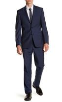 Simon Spurr Solid Blue Two Button Notch Lapel Wool Suit