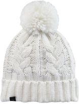 Cuddl Duds Girls 7-14 Sparkle Cable-Knit Beanie Hat