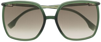 Fendi Oversized Square-Frame Sunglasses