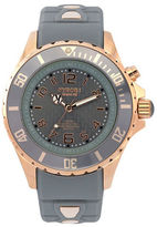 Kyboe Power Grey Silicone & Rose Goldtone Stainless Steel Strap Watch/40mm