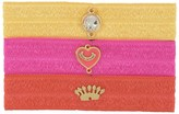 Juicy Couture Set Of 3 Flat Charmy Hair Elastics